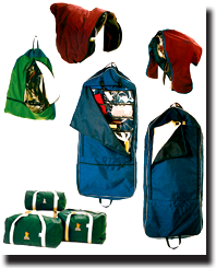 Custom bags for saddles, bridles, harnesses and other apparel accessories.