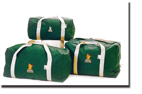 Forest Green & Tan Duffle Bags in Various Sizes